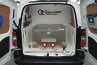 oven cleaning van equipment built in
