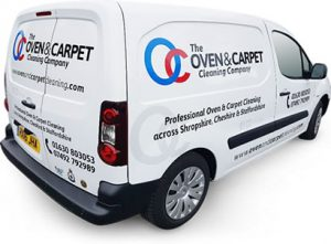oven carpet cleaning van back and side